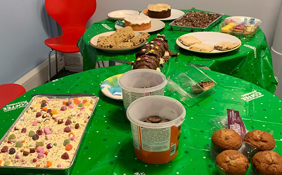 Cased Dimensions Macmillan Coffee Morning